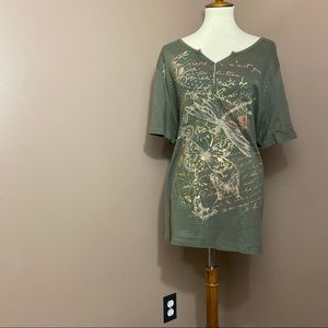 CJ Banks Butterfly and Dragonfly T-Shirt